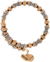 ALEX AND ANI - Two-tone Bead Wrap Bracelet - Lyst