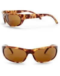 Ray-Ban - 60mm Wrap Acetate Sunglasses - Lyst