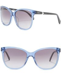 Fossil - Square 55mm Sunglasses - Lyst
