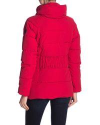 Guess - Faux Fur Trim Jacket - Lyst