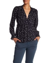Lucky Brand - Printed Frill Top - Lyst