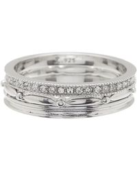 Judith Jack - Sterling Silver Stacking Rings - Size 8 - Lyst