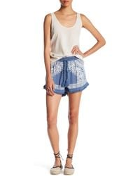 Romeo and Juliet Couture - Mirrored-print Woven Short - Lyst