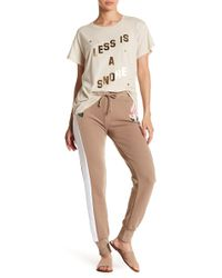 Wildfox - Rose Embroidery Joggers - Lyst