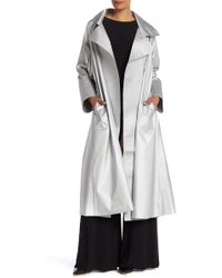 Norma Kamali - Dolman 80's Flared Midcalf Trench Coat - Lyst