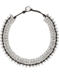 Uno De 50 - Mandala Silver-tone Beaded Cord Necklace - Lyst