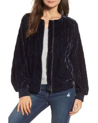 Hinge - Quilted Velvet Jacket - Lyst