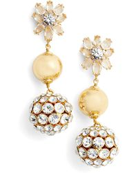 Kate Spade - Light The Room Triple Drop Earrings - Lyst