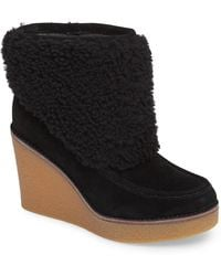 UGG - Coldin Genuine Sheepskin Wedge Boot - Lyst