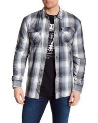 True Religion - Fleece Lined Plaid Utility Regular Fit Shirt - Lyst