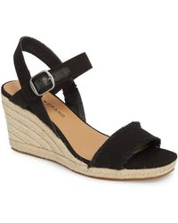 Lucky Brand - Marceline Squared Toe Wedge Sandal (women) - Lyst