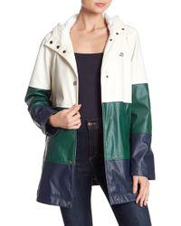 Lucky Brand - Varsity Colorblock Rain Coat - Lyst
