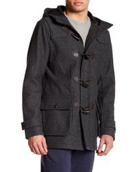 Brooks Brothers - Funnel Neck Hooded Long Sleeve Coat - Lyst