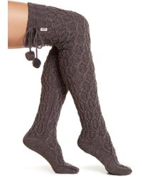 UGG - Sparkle Cable Knit Socks - Lyst