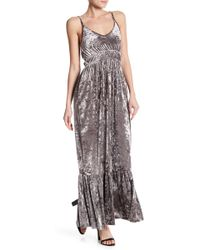 Romeo and Juliet Couture | Plunge Velvet Ruched Dress | Lyst