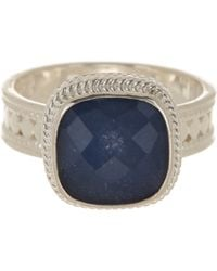 Anna Beck - Sterling Silver Sapphire Cushion Ring - Lyst