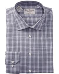 Hickey Freeman - Check Print Contemporary Fit Dress Shirt - Lyst