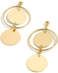 J.Crew - J.crew Double Disc Drop Earrings - Lyst