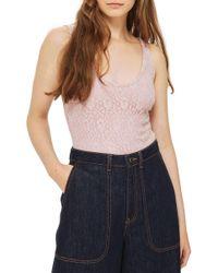 TOPSHOP | Lace-up Back Bodysuit | Lyst