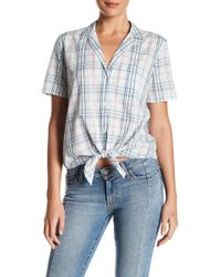 Equipment - Keira Plaid Tie Front Shirt - Lyst