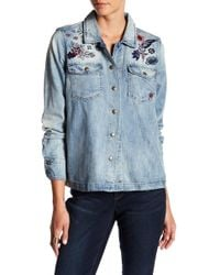 Vintage America - Steffi Embroidered Denim Jacket - Lyst