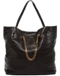 Lanvin - Sugar Medium Quilted Leather Shopper - Lyst