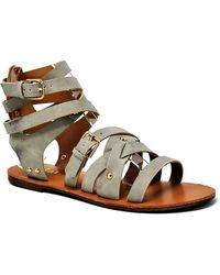 Mata Shoes - Faux Leather Artisan Crafted Crisscross Sandal - Lyst