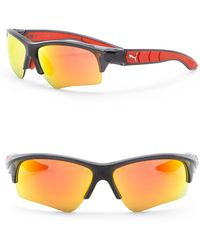 PUMA - Ignite Dual Eye 67mm Wrap Sunglasses - Lyst