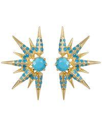 Melinda Maria - Barrie Turquoise Spike Earrings - Lyst