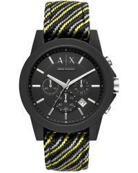Armani Exchange - Men's Aix Chronograph Woven Band Watch, 45mm - Lyst
