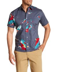 Ambsn - Parrot Short Sleeve Tailored Fit Shirt - Lyst