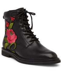 Kenneth Cole - Ashton Embroidered Floral Leather Boot - Lyst
