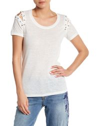 Jessica Simpson - Cassidie Linen Blend Lace-up Tee - Lyst