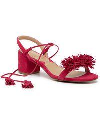 e222b7a1d3e Adrienne Vittadini - Alen Lace-up Heeled Sandal - Lyst