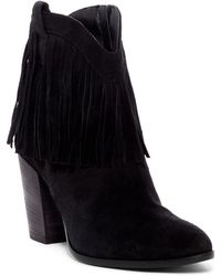 Andre Assous - Farley Fringed Cowboy Bootie - Lyst
