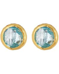 Gurhan - 24k Gold Vermeil Blue Topaz Galapagos Stud Earrings - Lyst