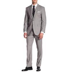 Perry Ellis - Grey Two Button Notch Lapel Slim Fit Suit - Lyst