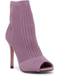 Catherine Malandrino - Knitty Open Toe Stiletto Heel Knit Bootie - Lyst