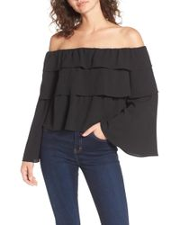 Storee | Ruffle Off The Shoulder Top | Lyst