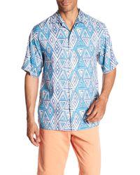 Tommy Bahama - Trio Geo Print Short Sleeve Original Fit Shirt - Lyst