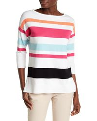 Chaus - Striped Pullover Jumper - Lyst