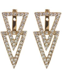 Vince Camuto - Double Triangle Earrings - Lyst