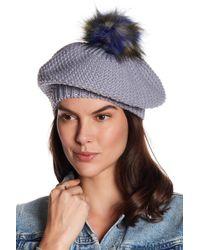 NORLA HATS - Glacia Faux Fur Pompom Beret - Lyst