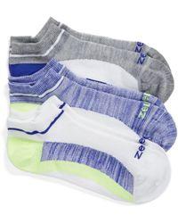Zella - Fitness 3-pack Liner Socks, Blue - Lyst