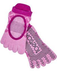 ToeSox - Bellarina Rosa Grip Socks - Lyst