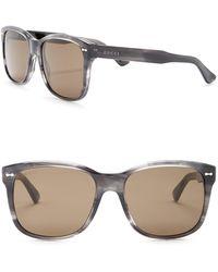 652176c8ba4 Lyst - Gucci Men s Square Plastic Frame Sunglasses in Gray for Men