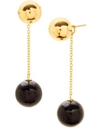 Gorjana - 18k Yellow Gold Plated Newport Glitter Ball Chain Drop Earrings - Lyst