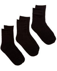Hue - Roll Top Socks - Pack Of 3 - Lyst