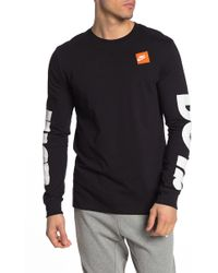4cab6fa0 Nike Sportswear Just Do It Long-sleeve T-shirt in Black for Men - Lyst