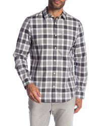 Calvin Klein - Long-sleeve Button Down Plaid Shirt - Lyst